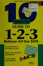 Cover of: 10 minute guide to 1-2-3 | Jenna Howard