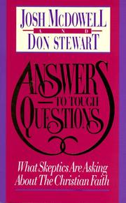 Cover of: Answers to Tough Questions