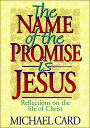 Cover of: The Name of the Promise Is Jesus: Reflections on the Life of Christ