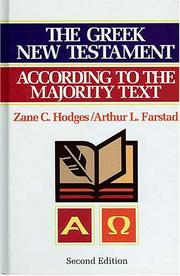 Cover of: The Greek New Testament According to the Majority Text with Apparatus |