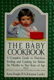Cover of: The baby cookbook | Karin Knight
