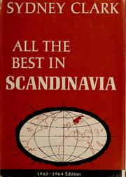 Cover of: All the best in Scandinavia | Sydney Clark