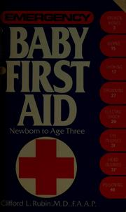 Cover of: Baby First Aid | Clifford L. Rubin