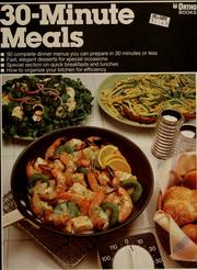 Cover of: 30-minute meals by Susan E. Mitchell