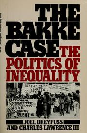 Cover of: The Bakke case | Joel Dreyfuss