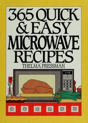 365 Quick and Easy Microwave Recipes by Thelma Pressman