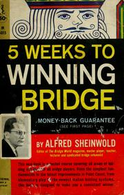 Cover of: 5 weeks to winning bridge. | Alfred Sheinwold