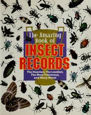Cover of: The amazing book of insect records | Samuel G. Woods