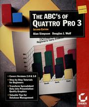 Cover of: The ABC's of Quattro pro 3 | Simpson, Alan