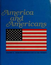Cover of: America and Americans | Herbert J. Bass