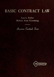 Cover of: Basic contract law | Lon L. Fuller