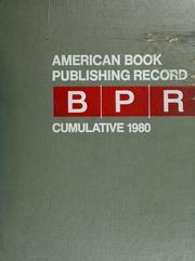 Cover of: American book publishing record |