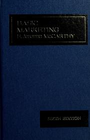 Cover of: Basic marketing | E. Jerome McCarthy