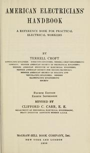 Cover of: American electricians' handbook | Terrell Croft