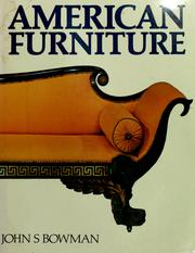 Cover of: American furniture | John S. Bowman