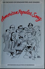 Cover of: American popular song |