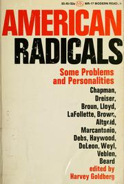 Cover of: American radicals |