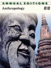 Annual Editions Anthropology: 2002/2003 (Annual Editions : Anthropology)
