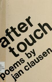 Cover of: After touch | Jan Clausen