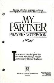 Cover of: My Partner Prayer Notebook