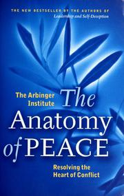 Cover of: The anatomy of peace |