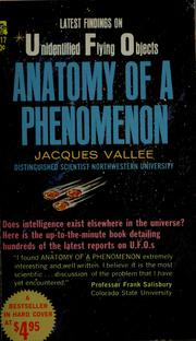 Cover of: Anatomy of a phenomenon | Jacques Vallee