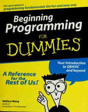 Cover of: Beginning programming for dummies | Wally Wang