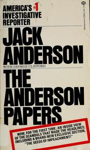 Cover of: The Anderson papers by Anderson, Jack
