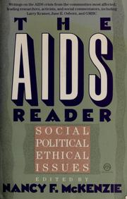 Cover of: The AIDS reader | edited by Nancy F. McKenzie.