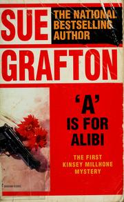 "Cover of: ""A"" is for alibi 