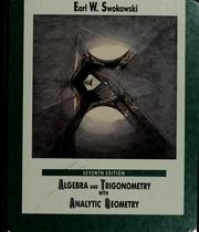 Cover of: Algebra and trigonometry with analytic geometry | Earl William Swokowski