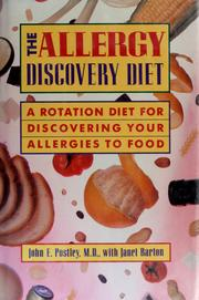 Cover of: The allergy discovery diet | John E. Postley