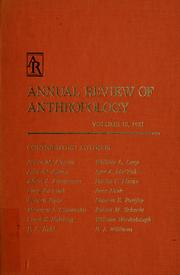 Cover of: Annual review of anthropology |