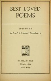 Cover of: Best loved poems. | Richard Charlton MacKenzie