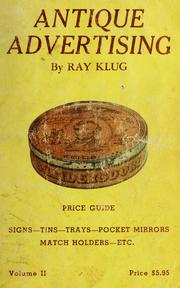 Cover of: Antique advertising | Ray Klug