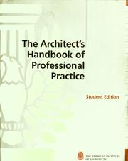 Cover of: The architect's handbook of professional practice |