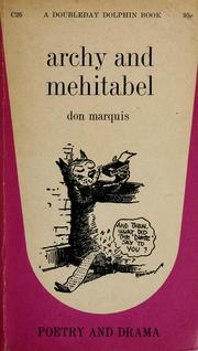 Cover of: archy and mehitabel | Don Marquis