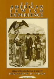 Cover of: The American Jewish experience |