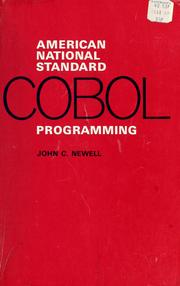 Cover of: American national standard COBOL programming | Newell, John C.