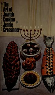 Cover of: The art of Jewish cooking | Jennie Grossinger Grossinger