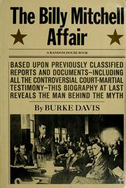 Cover of: The Billy Mitchell affair. | Burke Davis