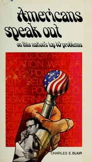 Cover of: Americans speak out by Charles E. Blair