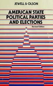 Cover of: American state political parties and elections | Malcolm Edwin Jewell