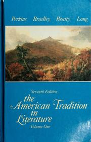 Cover of: The American tradition in literature. |