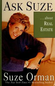Cover of: Ask Suze --about real estate | Suze Orman