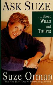 Cover of: Ask Suze --about wills and trusts | Suze Orman