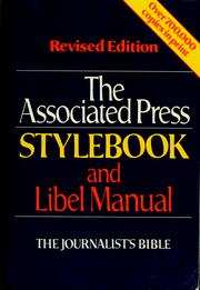 Cover of: The Associated Press stylebook and libel manual |