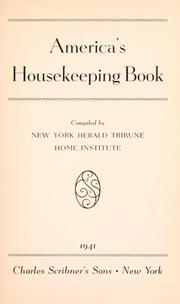 America's housekeeping book