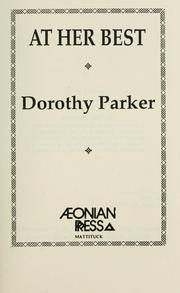 Cover of: At Her Best | Dorothy Parker
