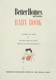 Cover of: Baby book |